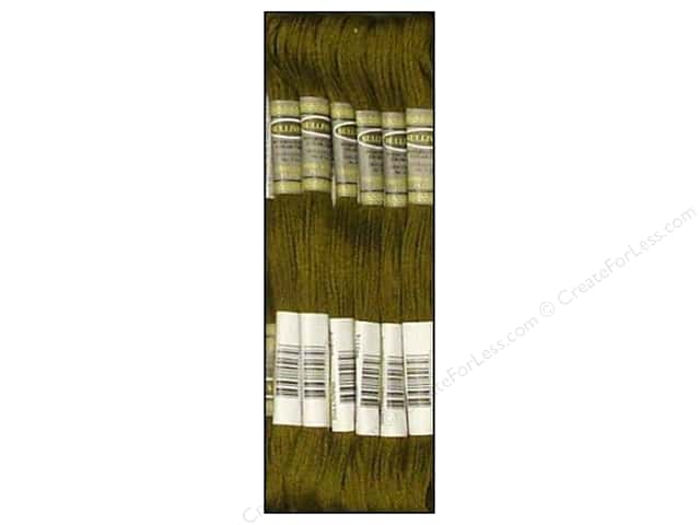 Sullivans Six-Strand Embroidery Floss 8.7 yd. Very Dark Olive Green (12 skeins)