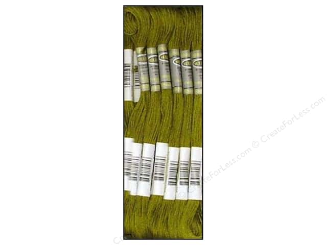 Sullivans Six-Strand Embroidery Floss 8.7 yd. Dark Olive Green (12 skeins)