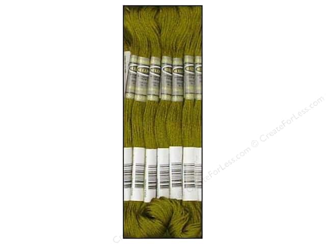 Sullivans Six-Strand Embroidery Floss 8.7 yd. Olive Green (12 skeins)