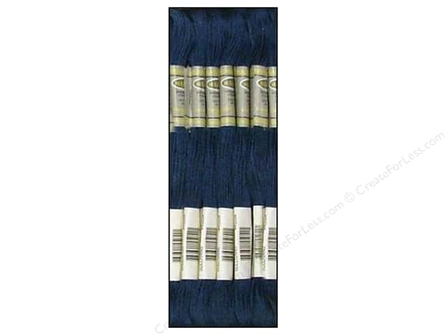 Sullivans Six-Strand Embroidery Floss 8.7 yd. Medium Navy Blue (12 skeins)