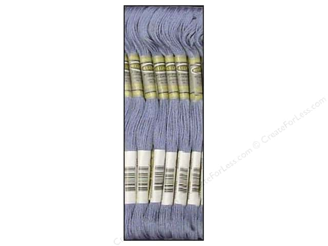 Sullivans Six-Strand Embroidery Floss 8.7 yd. Medium Grey Blue (12 skeins)