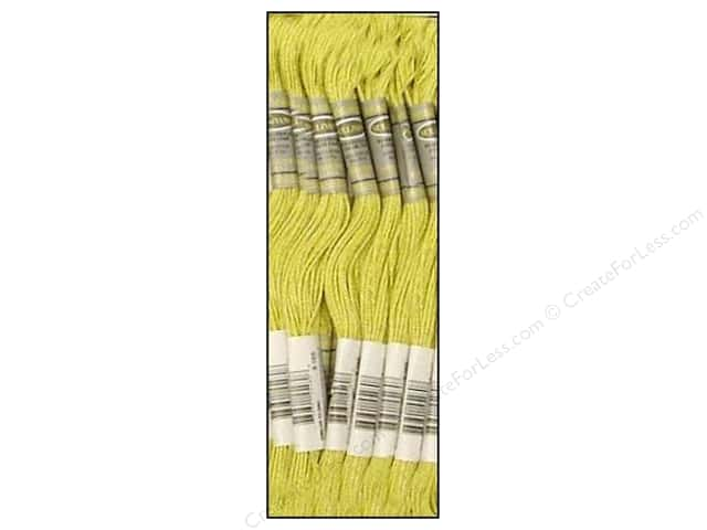 Sullivans Six-Strand Embroidery Floss 8.7 yd. Very Light Moss Green (12 skeins)