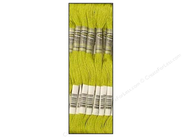Sullivans Six-Strand Embroidery Floss 8.7 yd. Medium Light Moss Green (12 skeins)