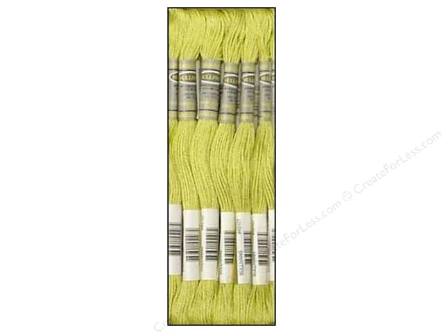 Sullivans Six-Strand Embroidery Floss 8.7 yd. Ultra Light Avocado Green (12 skeins)