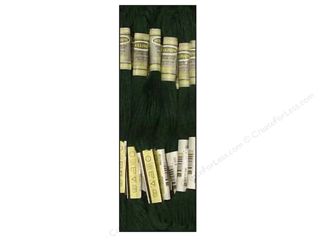 Sullivans Six-Strand Embroidery Floss 8.7 yd. Very Dark Blue Green (12 skeins)