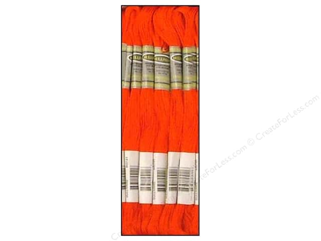 Sullivans Six-Strand Embroidery Floss 8.7 yd. Bright Orange Red (12 skeins)