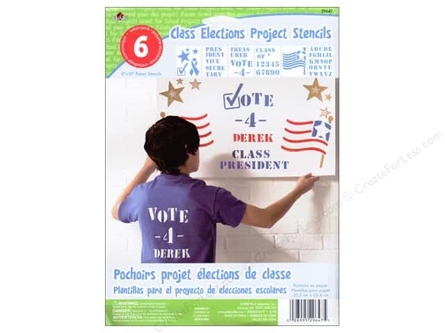 Plaid Paper Stencils 8 x 10 in. Kids Class Elections