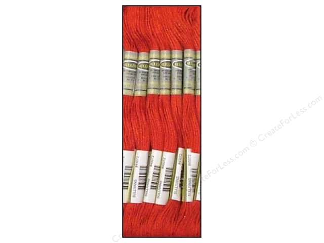 Sullivans Six-Strand Embroidery Floss 8.7 yd. Very Dark Salmon (12 skeins)