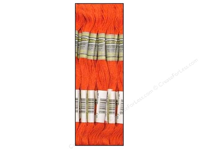 Sullivans Six-Strand Embroidery Floss 8.7 yd. Medium Coral (12 skeins)