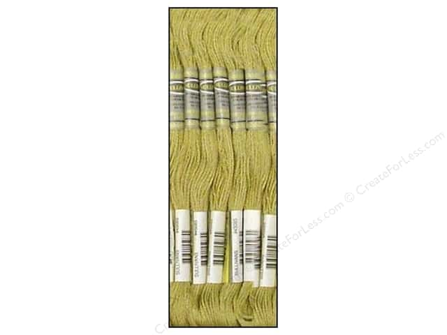 Sullivans Six-Strand Embroidery Floss 8.7 yd. Light Mustard (12 skeins)