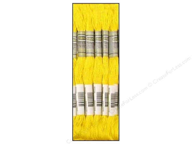 Sullivans Six-Strand Embroidery Floss 8.7 yd. Dark Lemon (12 skeins)