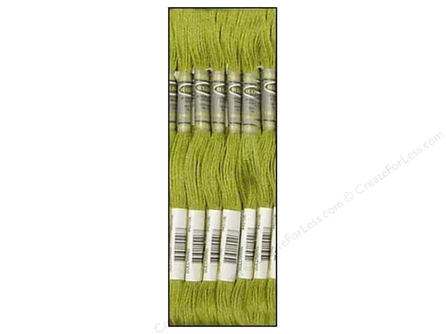 Sullivans Six-Strand Embroidery Floss 8.7 yd. Very Light Avocado Green (12 skeins)