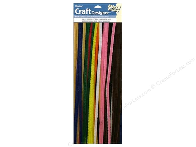 Chenille Stems by Darice 6 mm x 12 in. Multi 100 pc.