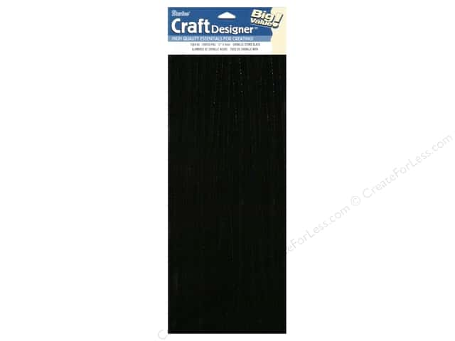 Chenille Stems by Darice 6 mm x 12 in. Black 100 pc.