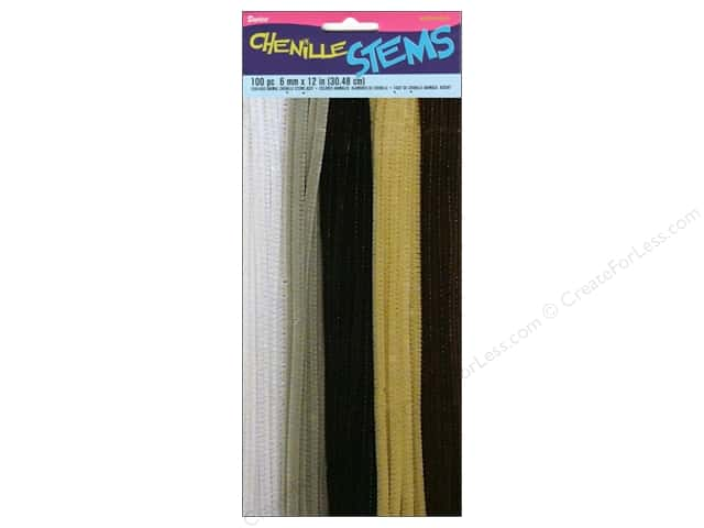Chenille Stems by Darice 6 mm x 12 in. Animal Assorted 100 pc.