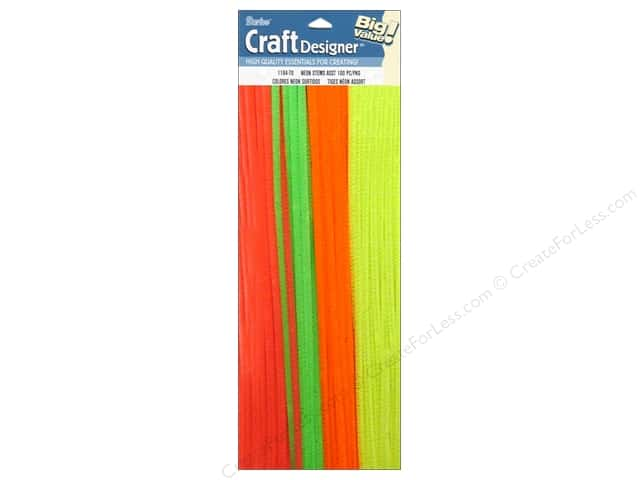 Darice Chenille Stems 6 mm x 12 in. Neon Assorted 100 pc.