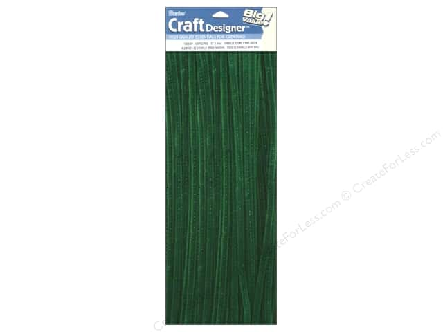 Chenille Stems by Darice 6 mm x 12 in. Kelly 100 pc.