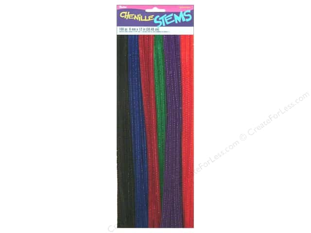 Darice Chenille Stems 6 mm x 12 in. Jewel Assorted 100 pc.