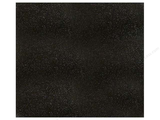 American Crafts 12 x 12 in. Cardstock Glitter Black (15 sheets)