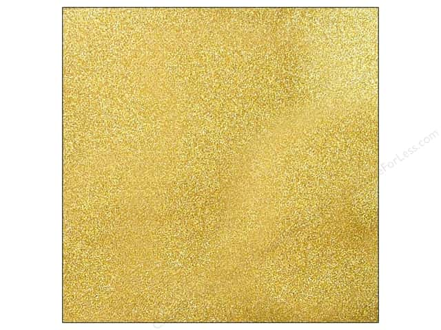 American Crafts 12 x 12 in. Cardstock Glitter Gold