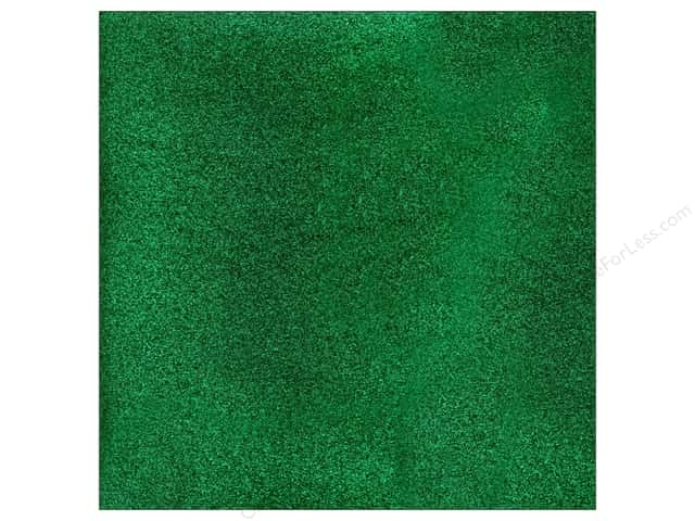American Crafts 12 x 12 in. Cardstock Glitter Evergreen (15 sheets)
