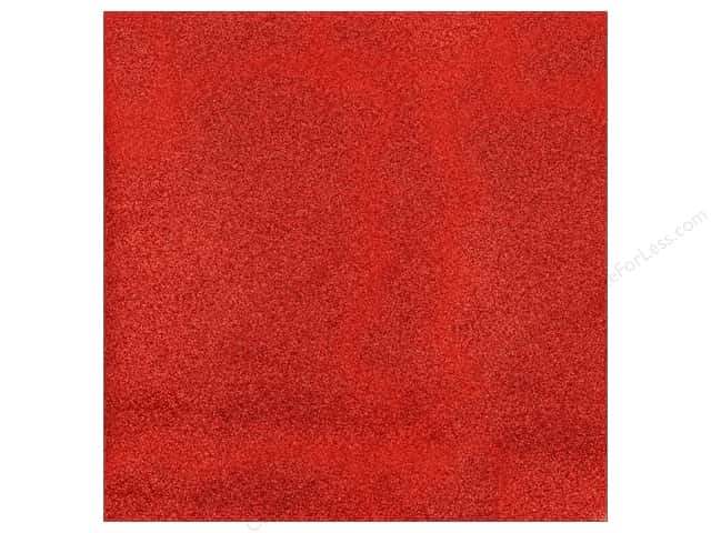 American Crafts 12 x 12 in. Cardstock Glitter Rouge (15 sheets)