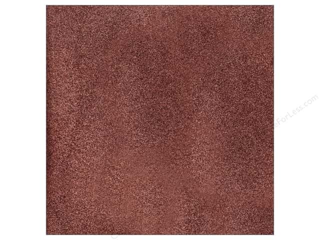 American Crafts 12 x 12 in. Cardstock Glitter Chestnut (15 sheets)