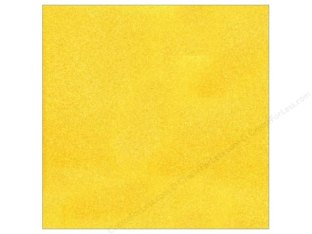 American Crafts 12 x 12 in. Cardstock Glitter Sunflower (15 sheets)