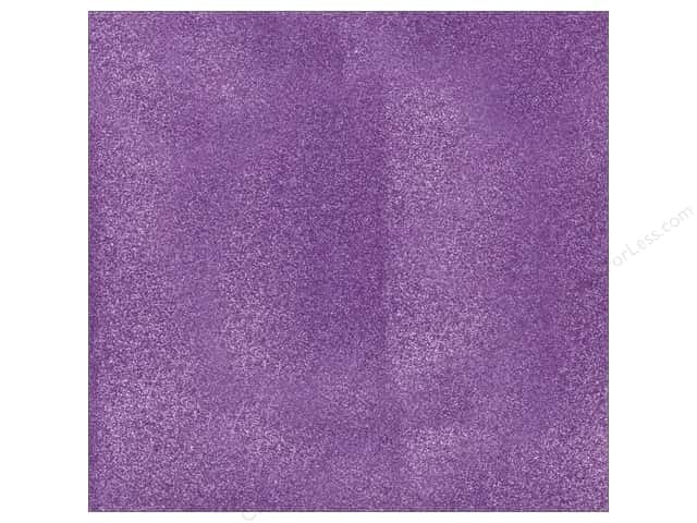 American Crafts 12 x 12 in. Cardstock Glitter Grape (15 sheets)