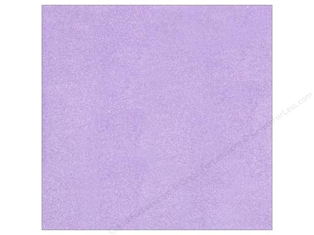 American Crafts 12 x 12 in. Cardstock Glitter Lavender (15 sheets)