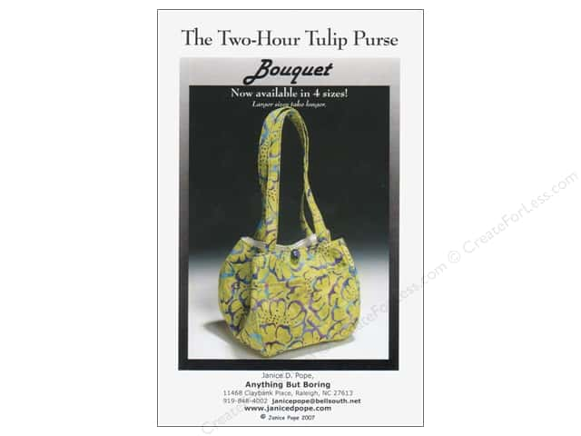 Anything But Boring The Two Hour Tulip Purse Pattern