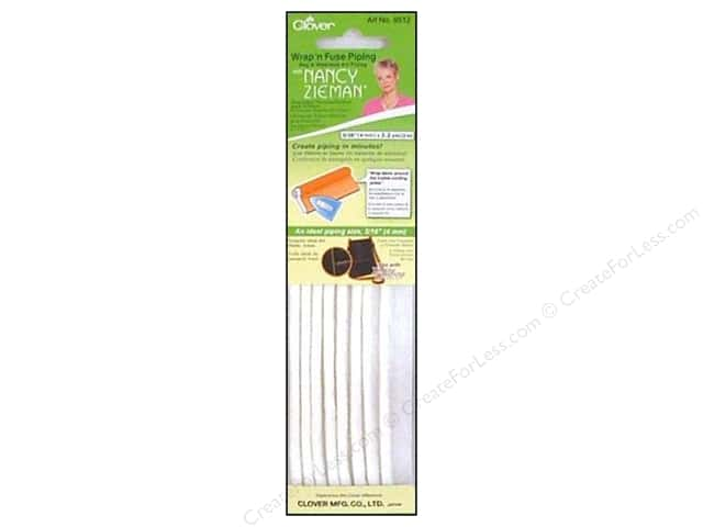 Clover Wrap N Fuse Piping with Nancy Zieman 3/16 in. x 2.2 yd.