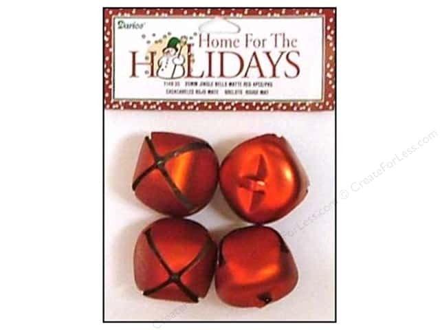 Darice Jingle Bells 1 3/8 in. Matte Red 4 pc.