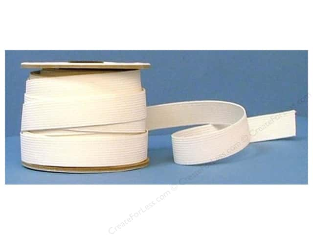 Conrad Jarvis 24 Strand Elastic Latex Free 1 in x 20 yd White (20 yards)