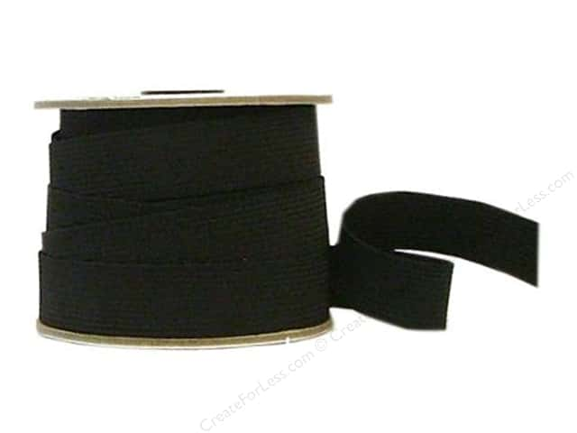 Conrad Jarvis 24 Strand Elastic Latex Free 1 in x 20 yd Black (20 yards)