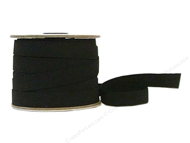 Conrad Jarvis 20 Strand Elastic Latex Free 3/4 in x 30 yd Black (30 yards)