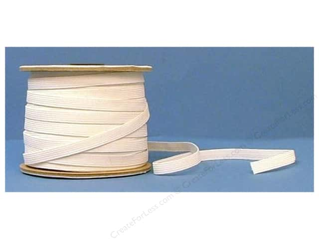 Conrad Jarvis 12 Strand Elastic Latex Free 3/8 in x 70 yd White (70 yards)