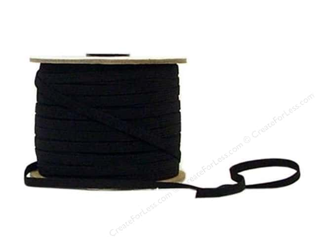 Conrad Jarvis 8 Strand Elastic Latex Free 1/4 in x 120 yd Black (120 yards)