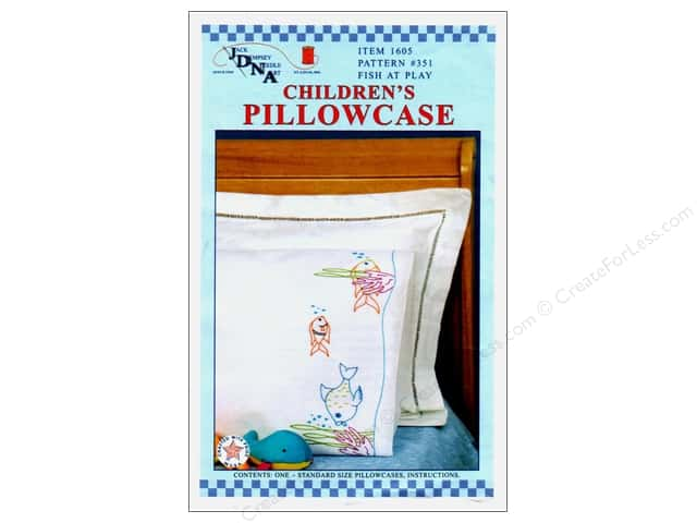 Jack Dempsey Children's Pillowcase - Fish at Play