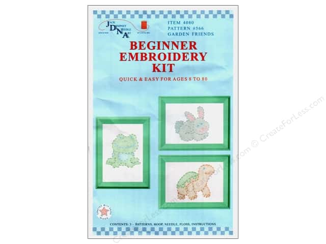Jack Dempsey Beginner Embroidery Kit Garden Friends