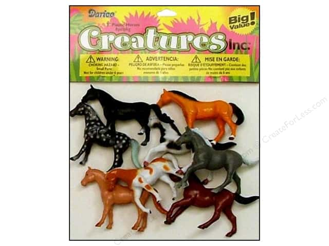 Darice Kids Plastic Creatures 2 in. Horses 8 pc.