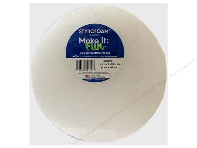 FloraCraft Styrofoam Disc 7 3/8 x 1 3/16 in. White 1 pc.