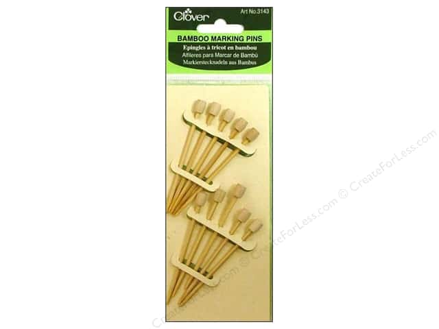Clover Bamboo Marking Pins 2 3/4 in. 10 pc.