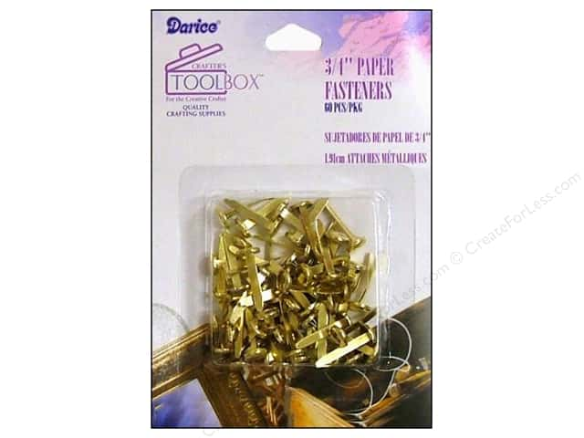 Darice Paper Fasteners 3/4 in Gold 60 pc.