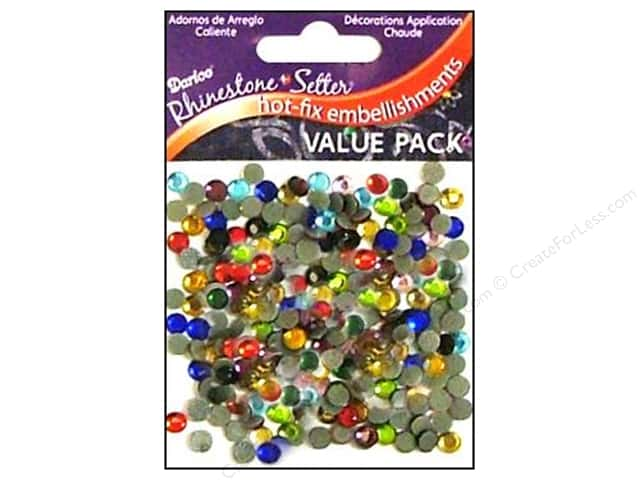 Darice Hot Fix Glass Rhinestones 5 mm Assorted 400 pc.