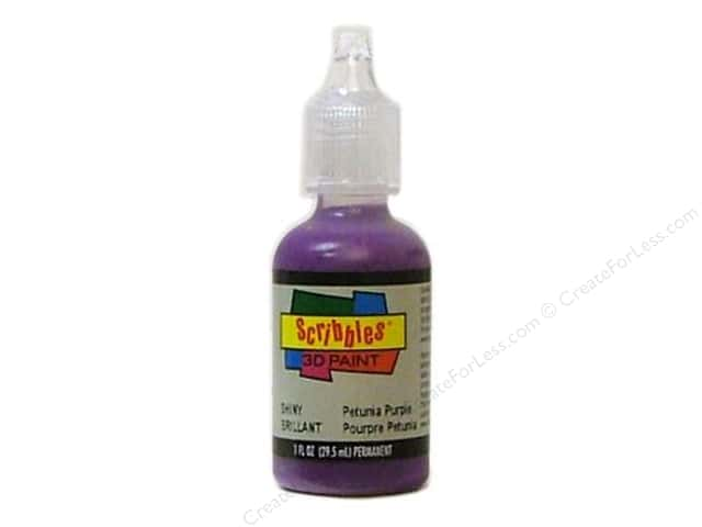 Scribbles 3D Fabric Paint 1 oz. Shiny Petunia Purple