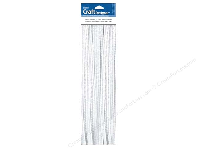 Darice Chenille Stems 6 mm x 12 in. White 25 pc.