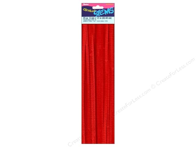 Darice Chenille Stems 6 mm x 12 in. Red 25 pc.