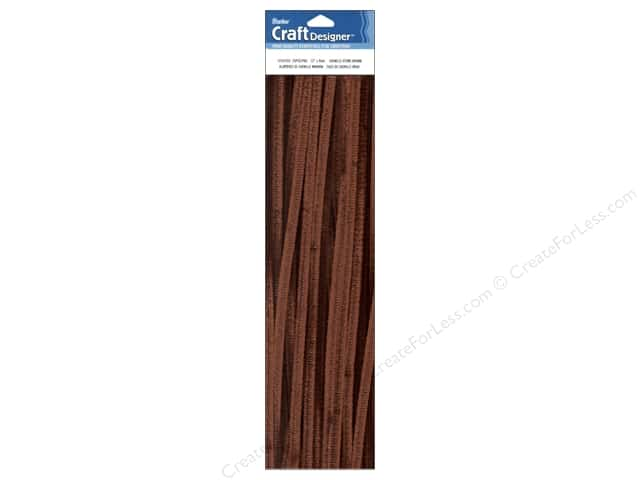 Chenille Stems by Darice 6 mm x 12 in. Brown 25 pc.
