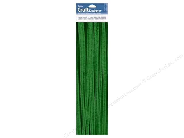 Chenille Stems by Darice 6 mm x 12 in. Emerald 25 pc. (3 packages)